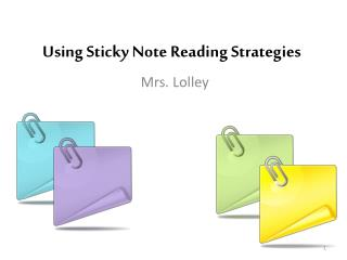 Using Sticky Note Reading Strategies