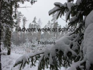 Advent week at school