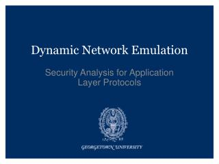Dynamic Network Emulation