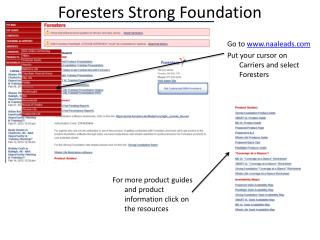 Foresters Strong Foundation