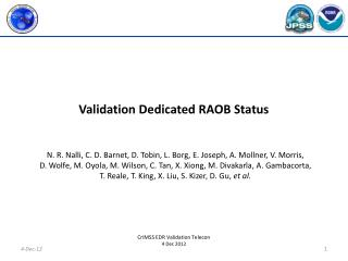 Validation Dedicated RAOB Status