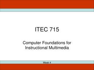 ITEC 715