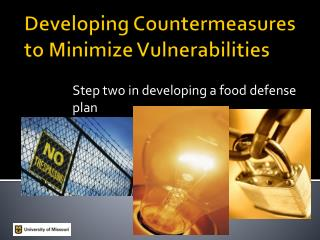 Developing Countermeasures to Minimize Vulnerabilities