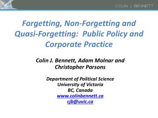 Forgetting, Non-Forgetting and Quasi-Forgetting:  Public Policy and Corporate Practice