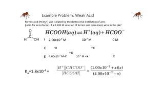 Example Problem: Weak Acid