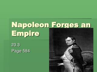 Napoleon Forges an Empire