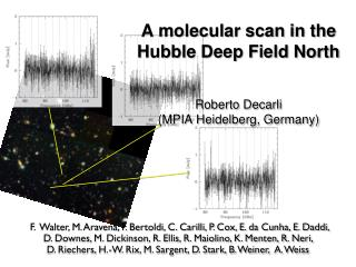 A molecular scan in the  Hu bble Deep Field  North Roberto  Decarli (MPIA Heidelberg, Germany)