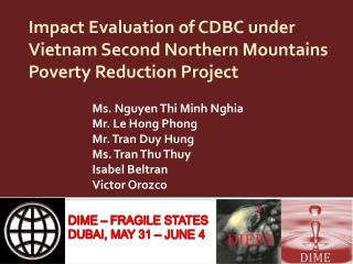 Impact Evaluation of CDBC under Vietnam Second Northern Mountains Poverty Reduction Project