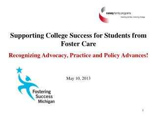 Supporting College Success for Students from Foster Care