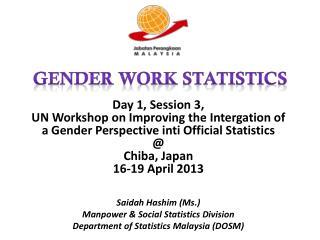 Gender work Statistics