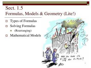 Sect. 1.5 Formulas, Models & Geometry (Lite!)