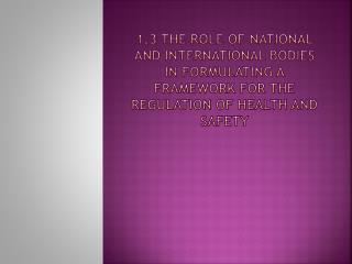 1.3.1 The role and function of international labor Organisation ( ilo )