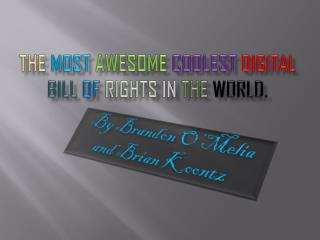 The  Most Awesome Coolest Digital Bill Of  Rights  in  the world.