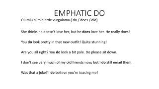 EMPHATIC DO