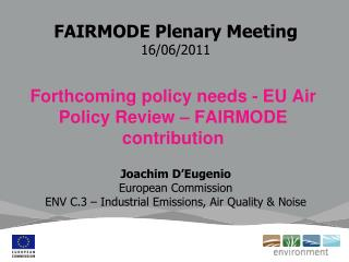 FAIRMODE Plenary Meeting 16/06/2011