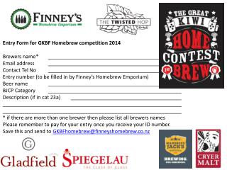 Entry Form for GKBF Homebrew competition 2014