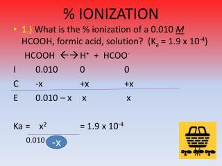 % IONIZATION