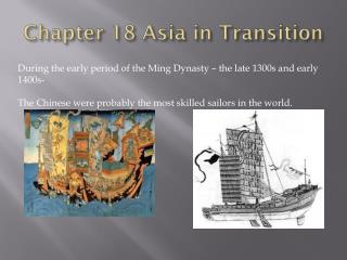 Chapter 18 Asia in Transition