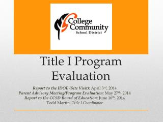 Title  I  Program Evaluation