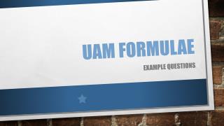 UAM Formulae