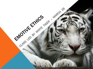 EMOTIVE ETHICS