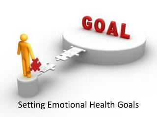 Setting Emotional Health Goals