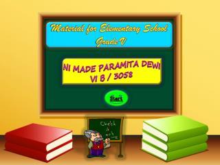 Material for Elementary School  Grade V