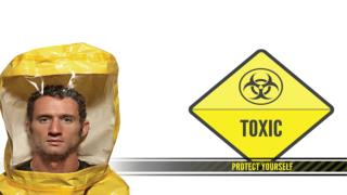 Toxic — anything  containing poisonous material capable of causing sickness or even death.