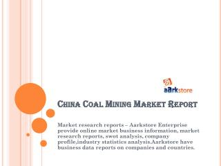 China Coal Mining Market Report