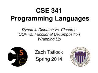 Zach  Tatlock Spring 2014