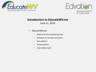 EducateWV Platform for Personalized Learning TechSteps for the Next Generation  New platform