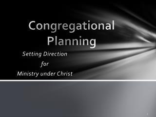 Congregational Planning