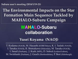 The Environmental Impacts on the  Star Formation Main Sequence Tackled by MAHALO-Subaru Campaign