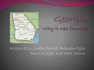 Georgia Why it was founded