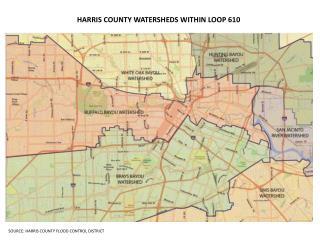 HARRIS COUNTY WATERSHEDS WITHIN LOOP 610