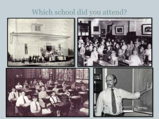Which school did you attend?