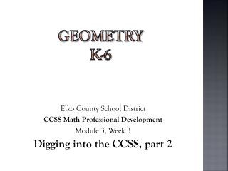 Geometry k-6
