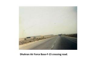 Dhahran Air Force Base-F-15 crossing road.