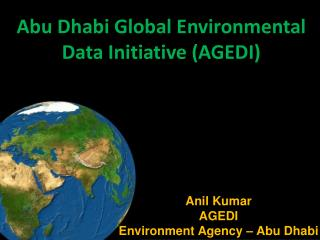 Abu Dhabi  Global Environmental  Data Initiative (AGEDI)