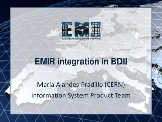 EMIR integration in BDII
