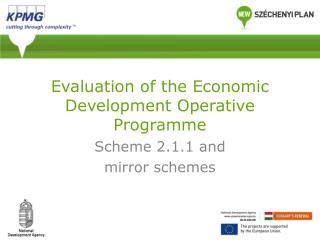 Evaluation of the Economic Development Operative Programme