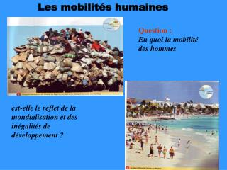 Les mobilités humaines