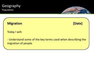 Geography Population