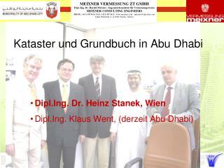Kataster und Grundbuch in Abu Dhabi