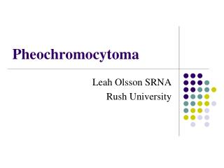 Pheochromocytoma