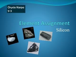 Element Assignment