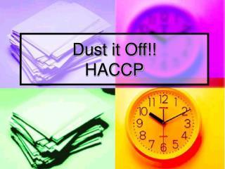 Dust it Off HACCP