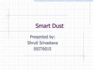 Smart Dust