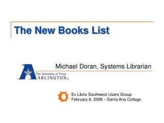 The New Books List