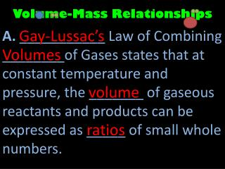 Volume-Mass Relationships